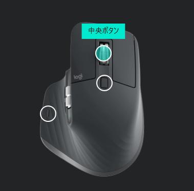 ロジクール MX Master 3 中央ボタン