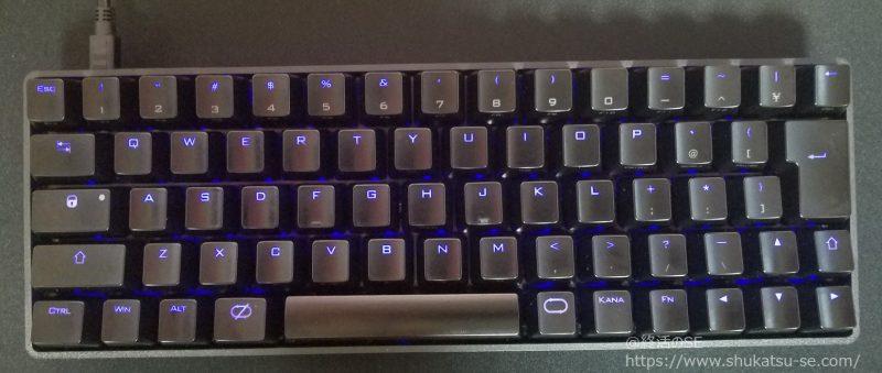 CENTURY BLACK PAWN CHERRY黒軸キーボードブルーLEDバックライト最小
