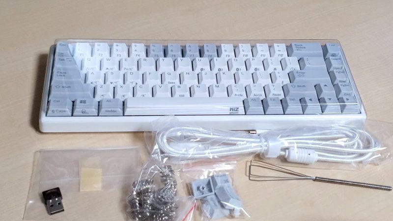 NiZ 68キー 本体と付属品