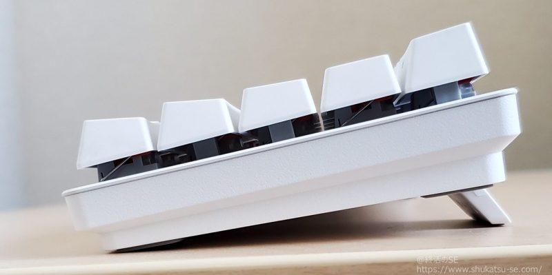 Razer Huntsman Mini  キーボードのチルトスタンドは2段階(2段回目)