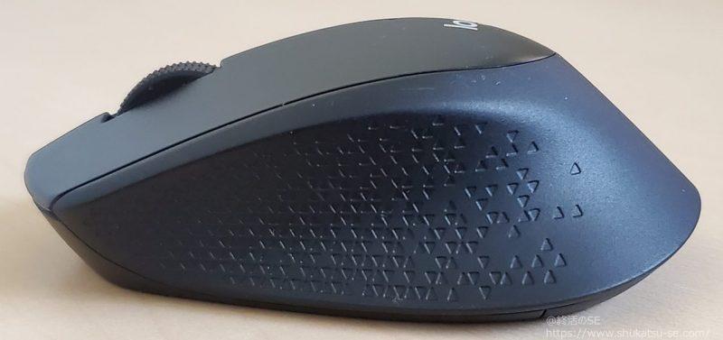 ロジクール 静音マウス M331BK ワイヤレスマウス レビュー 側面