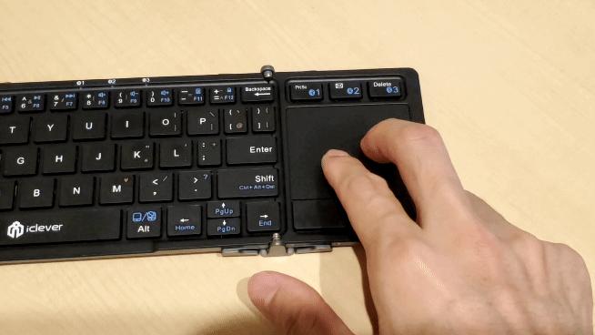 iClever Bluetooth キーボード IC-BK08の水平、垂直スクロール