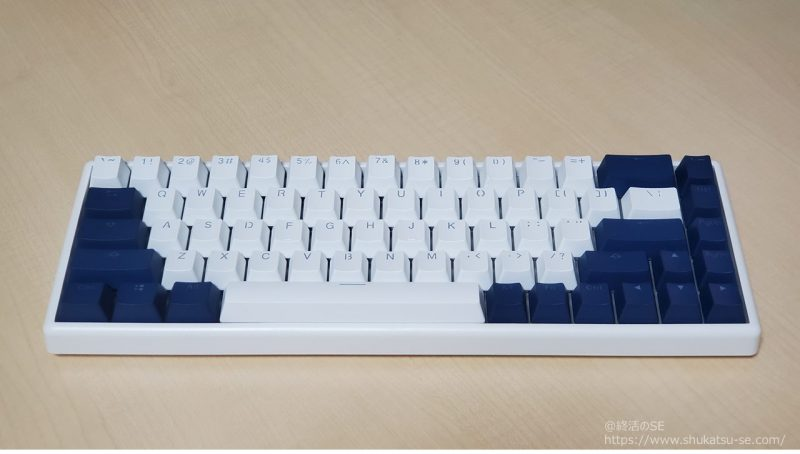 NiZ キーボードのキーキャップ交換後、サイズがベストマッチ