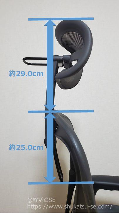 Atlas Headrest アーロンチェア ヘッドレスト 垂直調整可能幅 最大